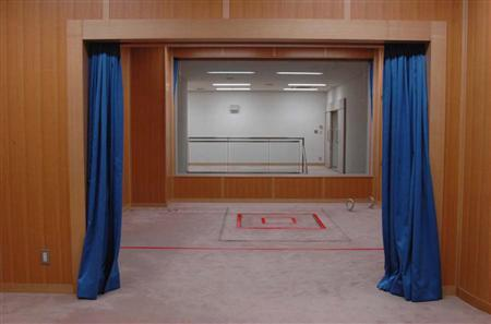 File photo of an execution chamber at the Tokyo Detention Center in Tokyo