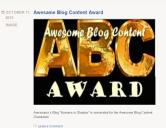 Awasome Blog Content Award