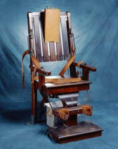 North Carolina's electric chair, now part of the collection at the N.C. Museum of History
