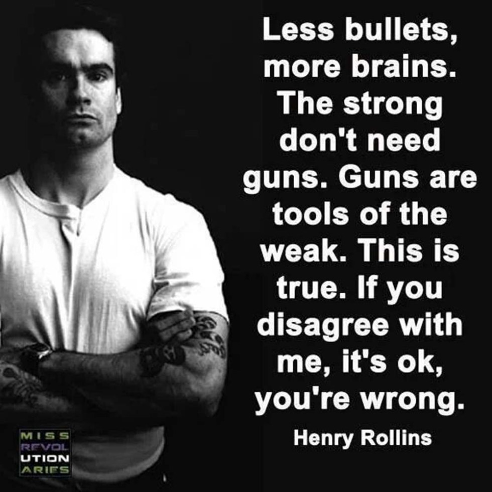 Guns Are For The Weak & Ignorant