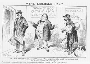 Tory anti-Immigrant Cartoon